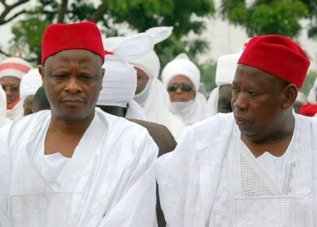 Rabiu Kwankwaso and Kano State Governor Abdullahi Ganduje  [Photo: Naij.com]