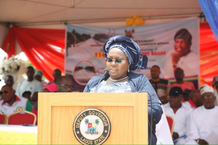 Lagos Deputy Governor, Idiat Adebule. [Photo credit: Amala]
