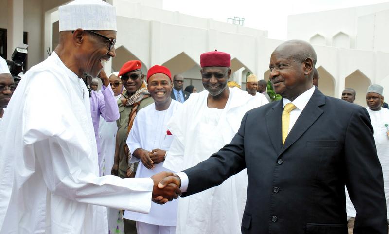 Image result for President Museveni of Uganda visits Nigeria