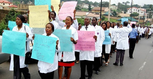 File photo of Resident Doctors protesting