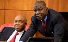 Senate President, Bukola Saraki and Deputy Senate President, Ekweremadu. [Photo credit: Sabi-Sabi]