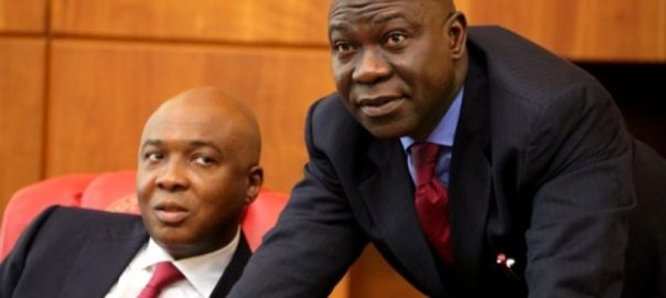 Senate President, Bukola Saraki and Deputy Senate President, Ekweremadu. [Photo credit: Sabi-Sabi]