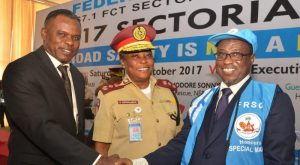 NNPC GMD, Maikanti Baru with FRSC officials