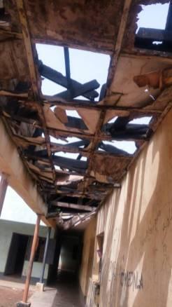 Dilapidated school structure