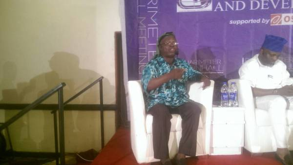 One of the panelists, Akintola Isaq responding to question raised by by participant