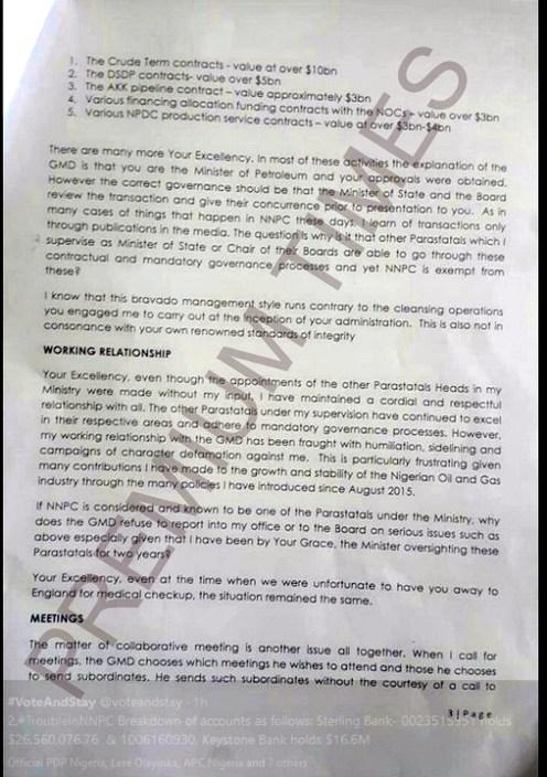Kachikwu's Letter to PMB-3