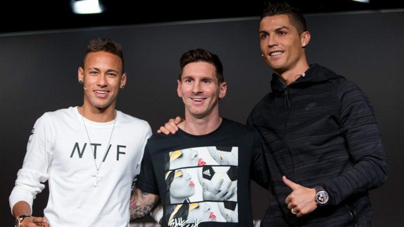 Neymar, Messi and, Ronaldo