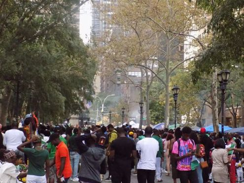 Nigerians and Americans celebrate independence Day in New York on Saturday. [Photo credit: NAN]