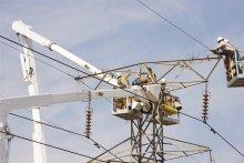 Power supply pylon under construction [Photo: Mott MacDonald]