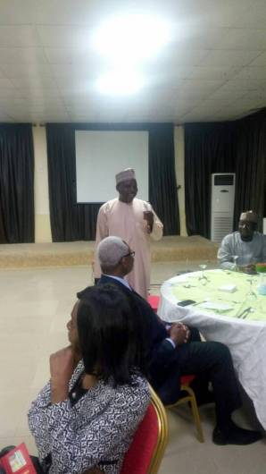Mannir Dan Ali, Director of Daily Trust newspaper giving his opening remark at the event