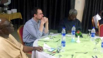 Osita Okechukwu, DG voice of Nigeria, sitting with other guests at the event