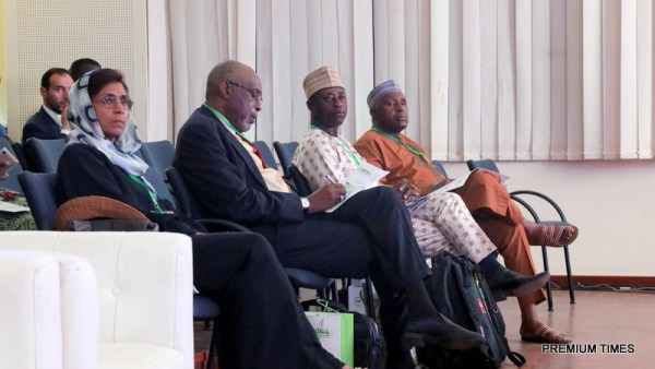 The panel of discussion at the Agric Symposium
