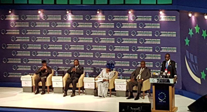 Vice President Yemi Osinbajo at the fourth summit of the Gulf of Guinea Commission at the Transcorp Hilton Hotel, Abuja. Credit: Sani Tukur. November 23, 2017.