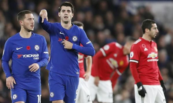 Alvaro Morata celebrates scoring the opener. Photograph: Frank Augstein/AP [Photo Source: Guardian UK]