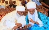 Former Vice President and Waziri Adamawa, Atiku Abubakar and Emir of Gombe, Alh. Abubakar Shehu Abubakar, at the formal commissioning of Pulaaku Radio Station in Yola, Adamawa State, at the weekend.