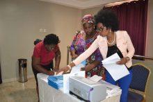 Participant undergoing registration