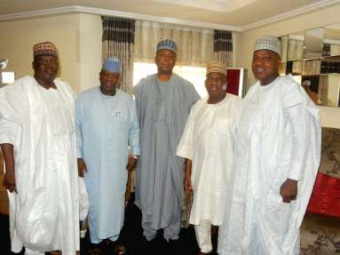 El-Rufai, Atiku, Emir Sanusi, Saraki, others visit Senator Goje over wife's death