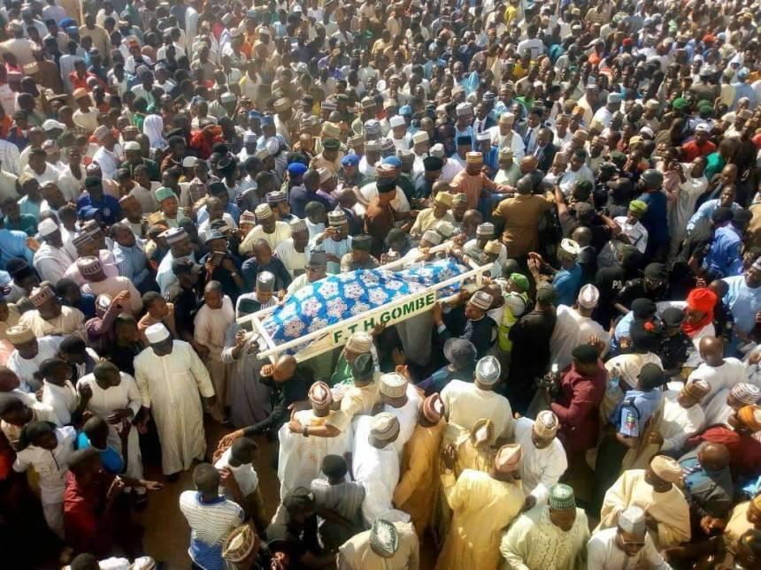 The body of Yelwa Goje, wife of a former Gombe State governor, Danjuma Goje