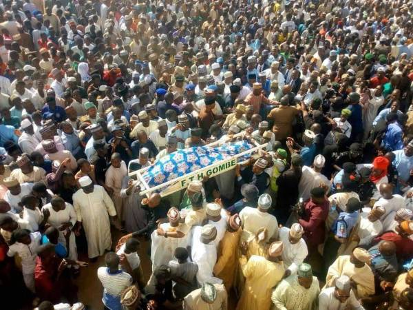 The body of Yelwa Goje, wife of a former Gombe State governor, Danjuma Goje