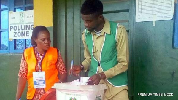Sorting of ballots at unit 6 ward 3, idemili north LGA