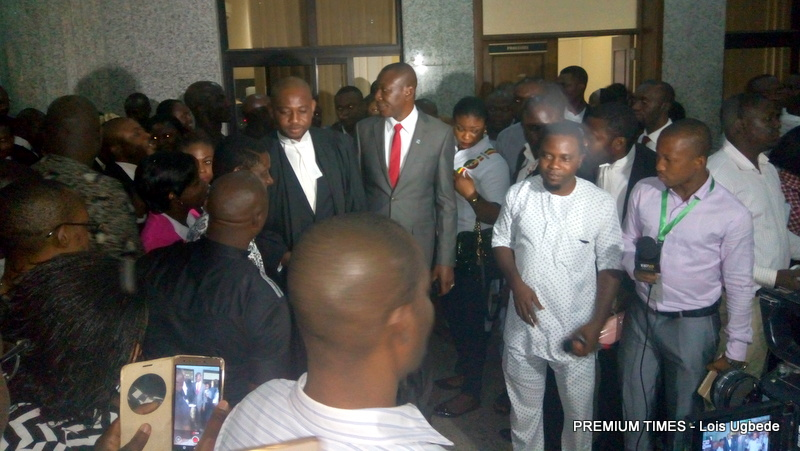 After courts session at the Peace Corp hearing.