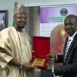 Director General of NITDA, Dr. Isa Ali Ibrahim Pantami during a visit to EFCC acting Chairman, Mr. Ibrahim Magu in June.