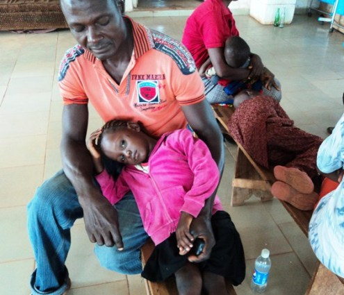 Malaria infected kids at Okposi Umuoghara health centre: They are disappointed at the centre