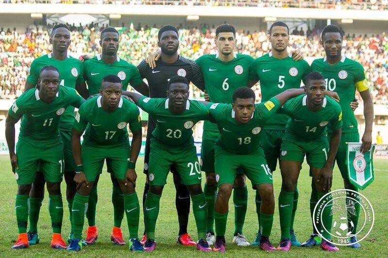 Timnas Nigeria di ajang Piala Dunia 2018.