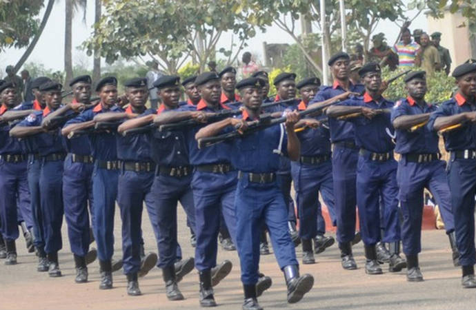 NSCDC Personnel on Parade. Photo: Premium Times