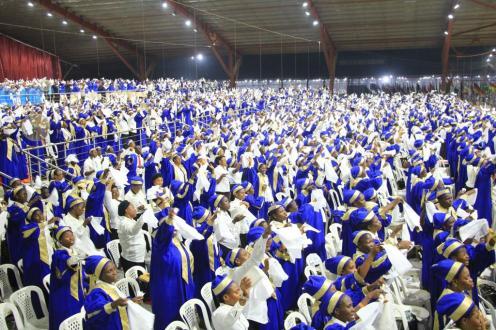A cross section of the choir.