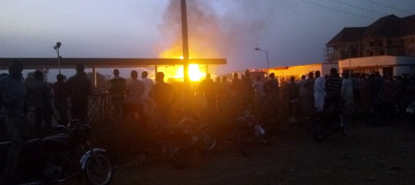 Petrol tanker on fire in Abuja.