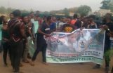 Students of Moshood Abiola Polytechnic, MAPOLY protesting.