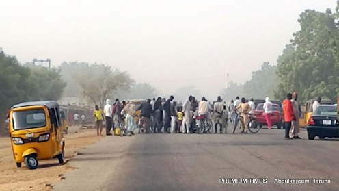 Residents after the Nigerian Military repelled Boko Haram attack