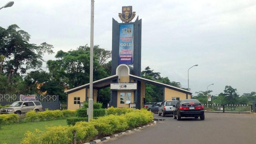 Main Entrance, Obafemi Awolowo University (OAU). Photo: Premium Times Nigeria
