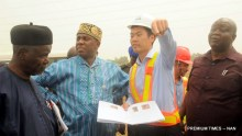 Pic.14. Transportation Minister inspects Lagos-Ibadan Rail project