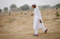 President Buhari on his farm
