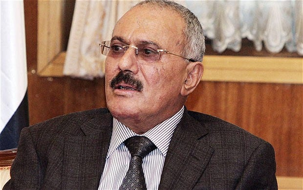 Yemen's former president Ali Abdullah Saleh. [Photo credit: The Telegraph]
