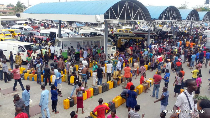 File photo of fuel scarcity