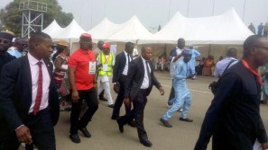 Arrivals of DSP, Ekweremadu and Raymond Dokpesi to Eagles Square