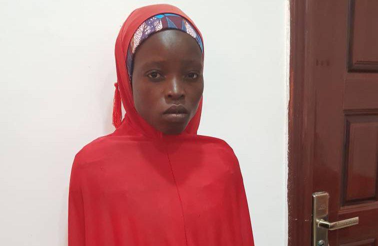 Salomi Pagu, another Chibok girl saved by the Nigerian Army.