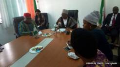 BOT chairman and ward-ward group members during the meeting.