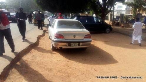 Vehicles involved in the accident caused by heavy security at scene of NLC protest in Kaduna.