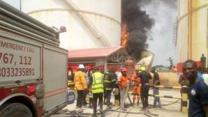 Oil depot gutted by fire in Lagos