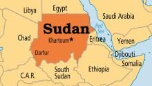 Sudan on map