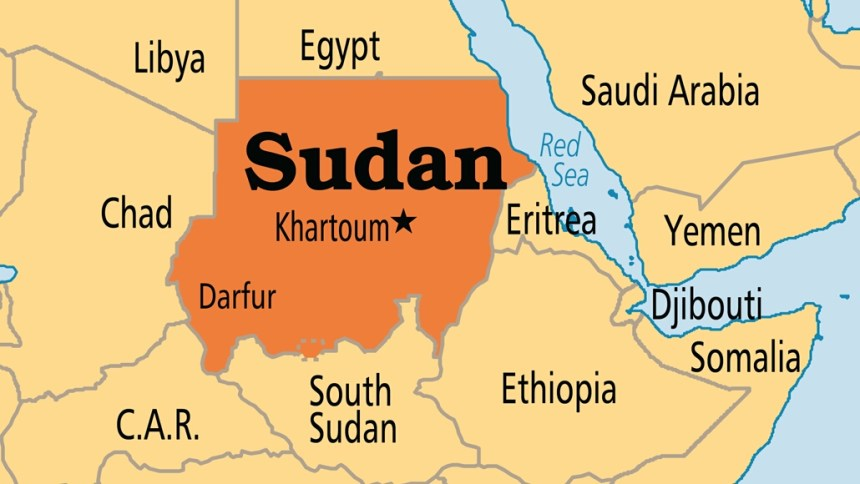 Sudan on map