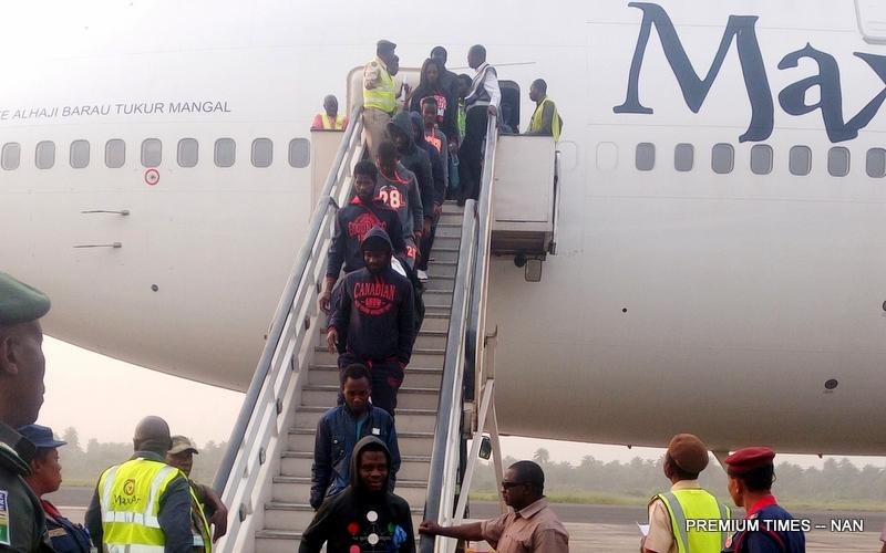 Some evacuated Nigerians living in Libya arrive Nigeria (7/1/18).0101/7/1/18/Chidi Ohalete/TA/NAN