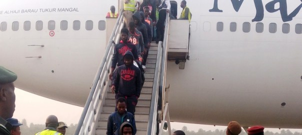 Some evacuated Nigerians living in Libya arrive Nigeria (7/1/18).0101/7/1/18/Chidi Ohalete/TA/NAN