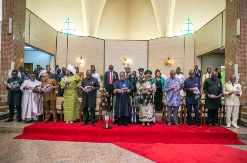 Vice President Yemi Osinbajo at the 2018 Armed Forces Remembrance Day service today