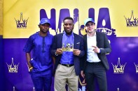 """Nigerian football legend, Austin Jay-Jay Okocha officially crowned """"King of the Game""""."""