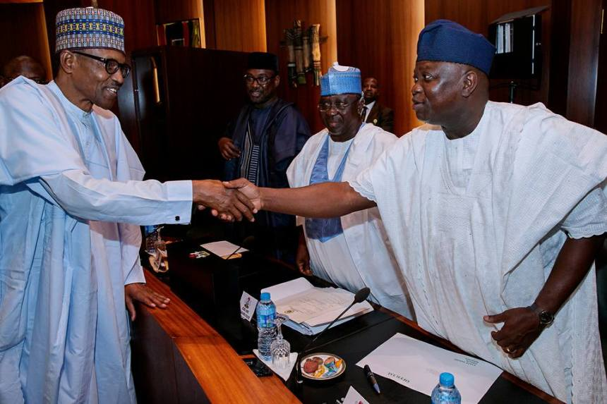 File Photo of President Muhammadu Buhari and Lagos State Governor, Akinwunmi Ambode